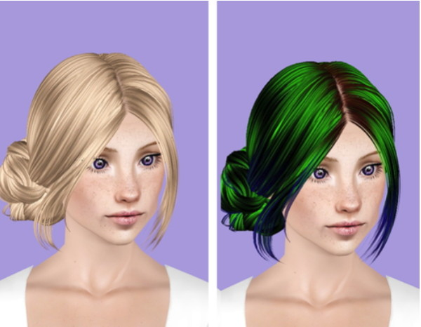 Skysims 143 hairstyle retextured by Plumb Bombs for Sims 3