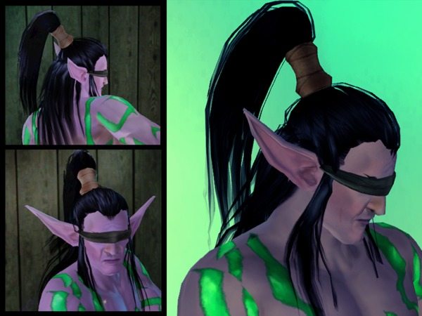 Illidan Hairstyle by Lady of Justice for Sims 3