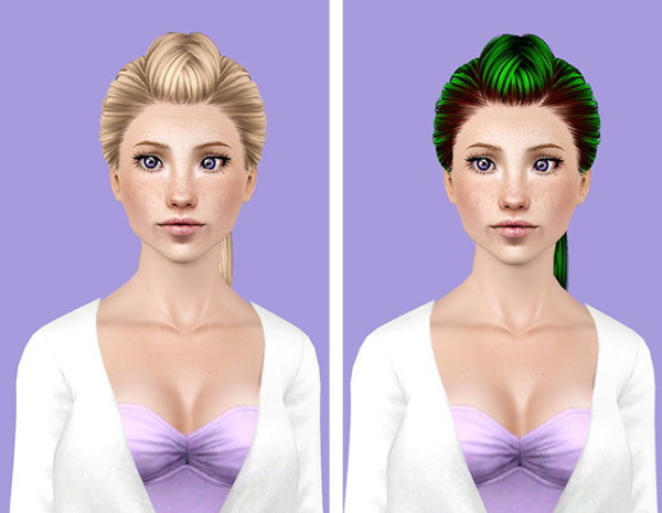 Skysims 223 hairstyle retextured by Plumb Bombs for Sims 3