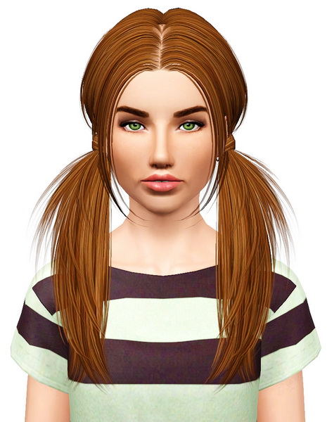 Butterfly 068 hairstyle retextured by Pocket for Sims 3