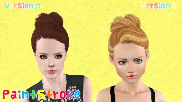 Skysims 144 hairstyles retextured by Paint Stroke for Sims 3