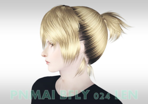 Butterfly 024 hairstyle converted by Maipham for Sims 3
