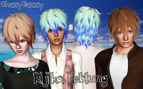 Kijiko`s Neblung hairstyle retextured by Chazy Bazzy for Sims 3