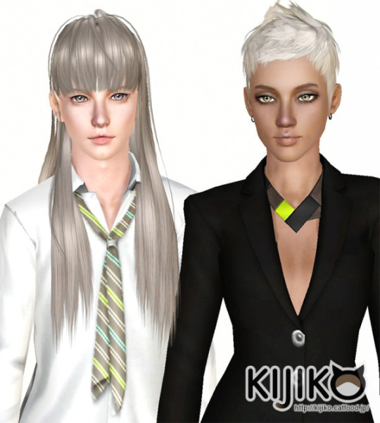 Boyish hairstyle for Girls and Girlish hairstyle for Boys by Kijiko for Sims 3