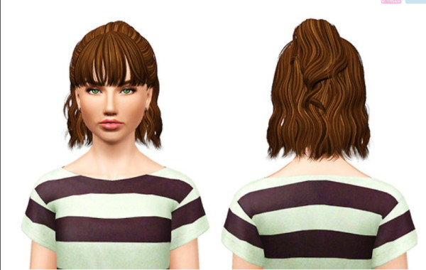 Newsea`s Lavender hairstyle retextured by Pocket for Sims 3