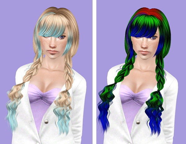 Skysims 63 and 225 hairstyle retextured by Plumb Bombs for Sims 3