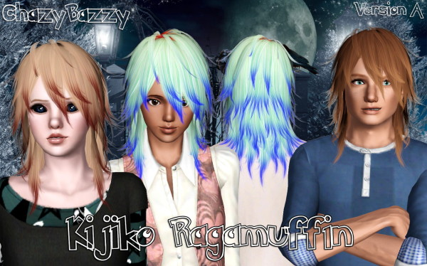 Kijiko`s Ragamuffin hairstyle retextured by Chazy Bazzy for Sims 3