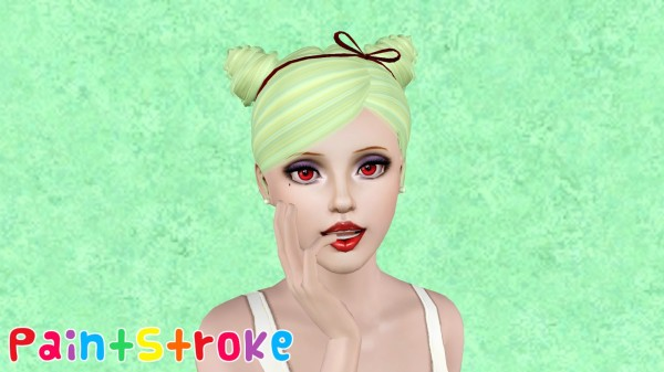 Zauma`s Mirror hairstyle retextured by Paint Stroke for Sims 3