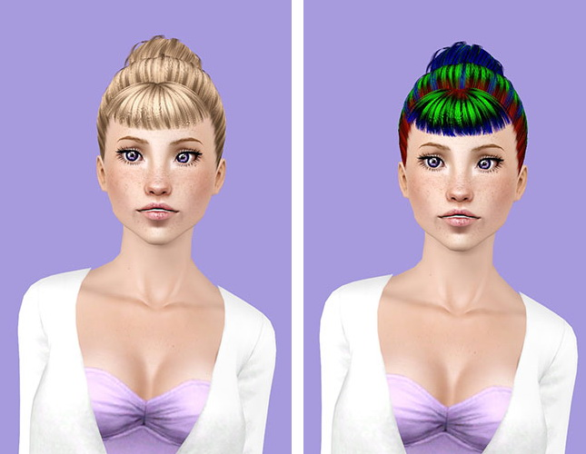 Hair Style Zone: Rolled Bangs Hairstyle ID 62 By Peggy Zone