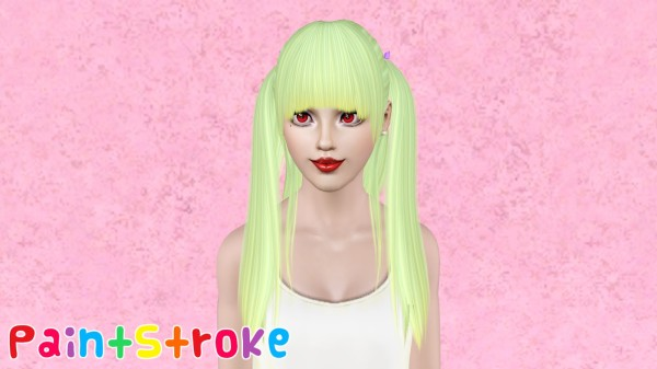 Zauma`s RedLight hairstyle retextured by Paint Stroke for Sims 3