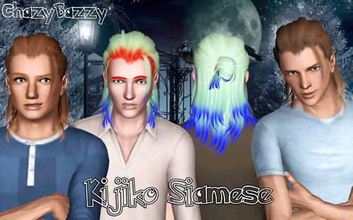 Kijiko`s Siamese hairstyle retextured by Chazy Bazzy for Sims 3