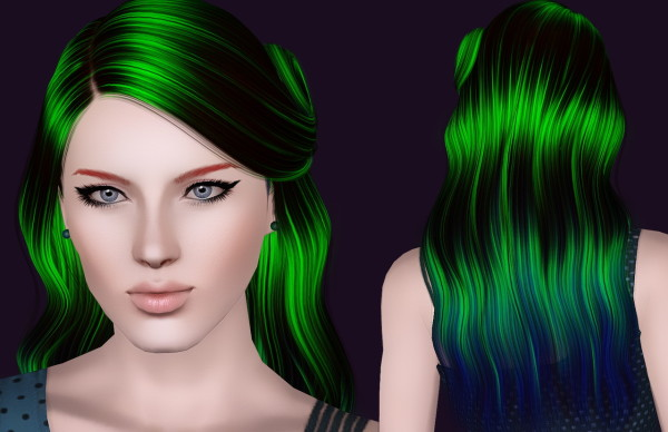 Cazy's Leah hairstyle retextured by Bring Me Victory for Sims 3