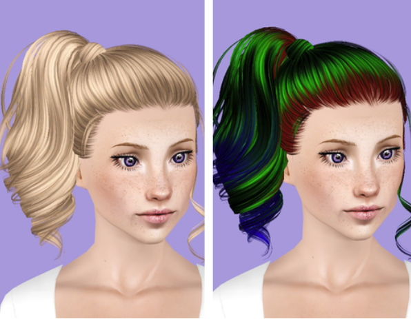 Skysims 153 hairstyle retextured by Plumb Bombs for Sims 3