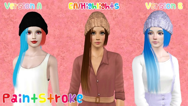 Zauma`s Crush hairstyle retextured by Paint Stroke for Sims 3