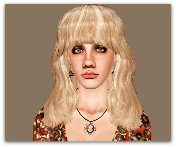 Modish Kitten Shag Hairstyle retextured by Marie Antoinette for Sims 3