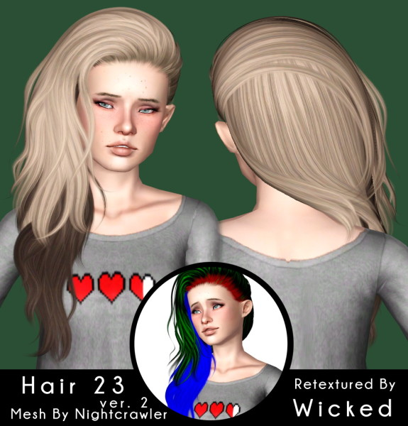 Nightcrawler`s 23 hairstyle retextured by Magically for Sims 3
