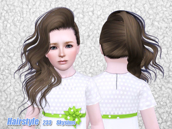 Wild hairstyle 232 by Skysims for Sims 3