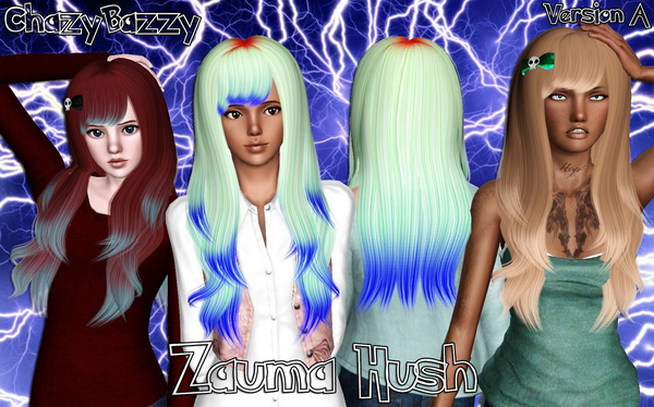 Zauma`s Hush hairstyle retextured by Chazy Bazzy for Sims 3
