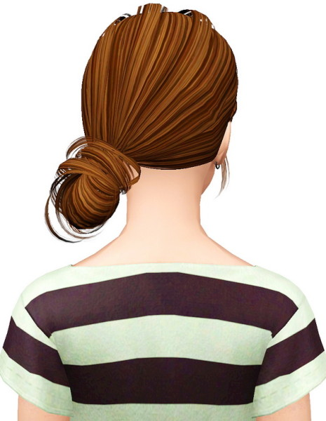 Butterfly 092 hairstyle retextured by Pocket for Sims 3