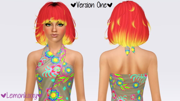 Newsea`s The Moment hairstyle retextured by Lemonkixxy for Sims 3