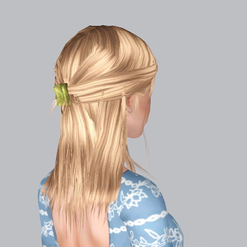 Pulled back Ponytail hairstyle retextured by Plumb Bombs for Sims 3