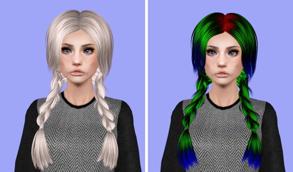 Skysims 129 hairstyle retextured by Plumb Bombs for Sims 3