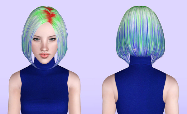 Butterflysims 124 hairstyle retextured by Porcelain Warehouse for Sims 3