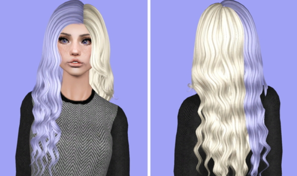 Alesso`s Hourglass Cruella hairstyle retextured by Plumb Bombs for Sims 3