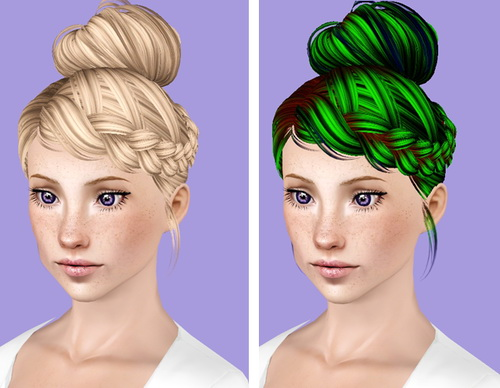 Skysims 209 hairstyle retextured by Plumb Bombs for Sims 3
