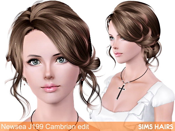 Newsea J199 Cambrian retexture by Sims Hairs for Sims 3