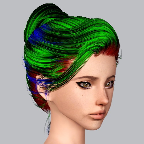 Newsea`s Sandra hairstyle retextured by Plumb Bombs for Sims 3