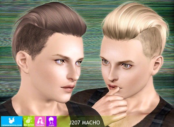 Hairstyle J207 Macho by NewSea for Sims 3