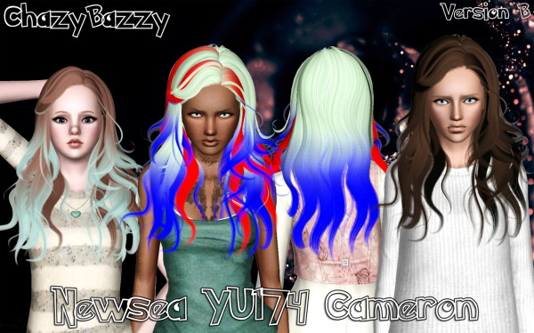Newsea`s YU174 Cameron hairstyle retextured by Chazy Bazzy for Sims 3