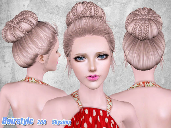 Remarkable Sims 3 Braided Bun Hair Braids Short Hairstyles For Black Women Fulllsitofus
