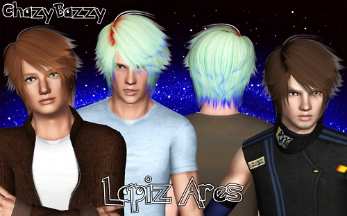 Lapiz Ares hairstyle retextured by Chazy Bazzy for Sims 3