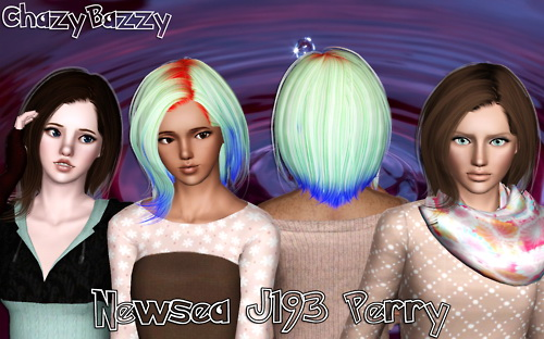 Newsea`s J193 Perry hairstyle retextured by Chazy Bazzy for Sims 3