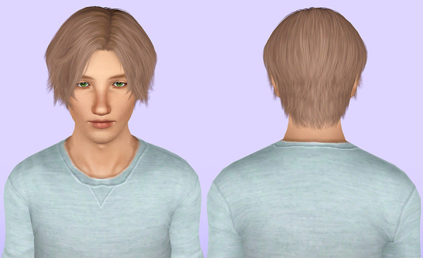 Cazy`s 93 hairstyle retextured by Porcelain Warehouse for Sims 3
