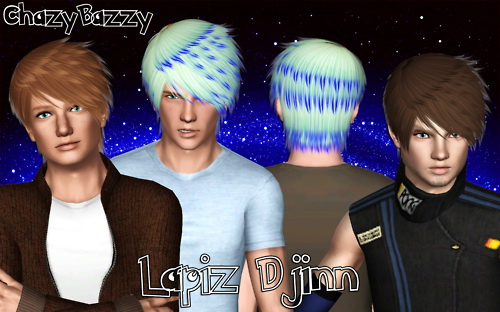 Lapiz Djinn hairstyle retextured by Chazy Bazzy for Sims 3