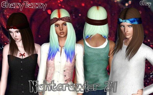 Nightcrawler`s hairstyle 24 retextured by Chazy Bazzy for Sims 3