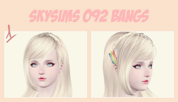 2700+ Follower Gift hairstyle retextured by Maipham for Sims 3