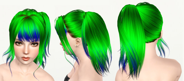 Skysims 178 seafoamie hairstyle retextured by Mod the Sims for Sims 3