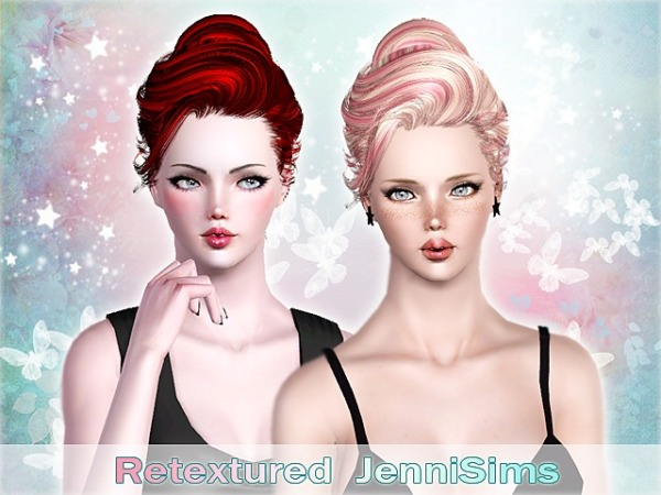 Newsea`s Sandra hairstyle retextured by Jenni Sims for Sims 3