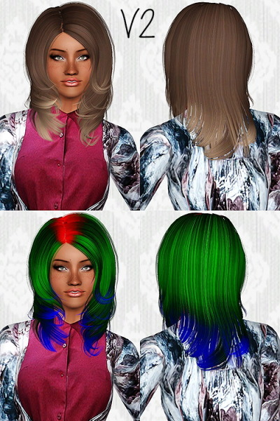Peggy`s Donate 0820 hairstyle retextured by Chantel Sims for Sims 3