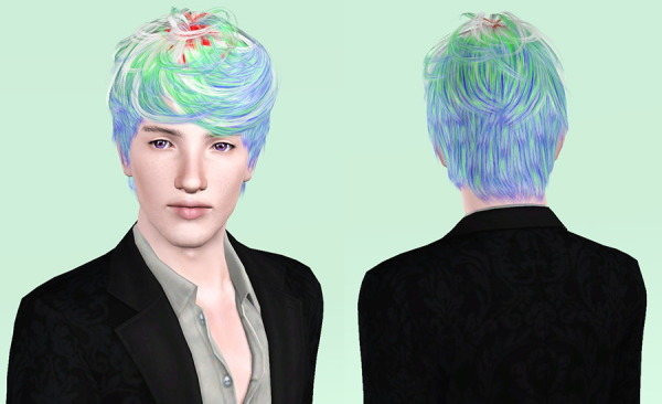 Cazy`s Per Sempre hairstyle retextured by Porcelain for Sims 3