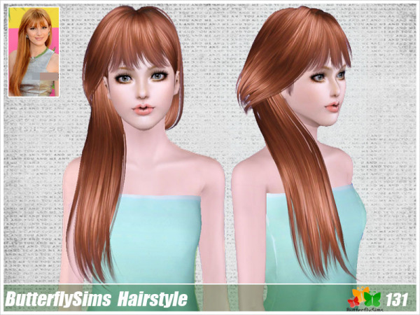 Soft hairstyle 131 by Butterfly Sims for Sims 3
