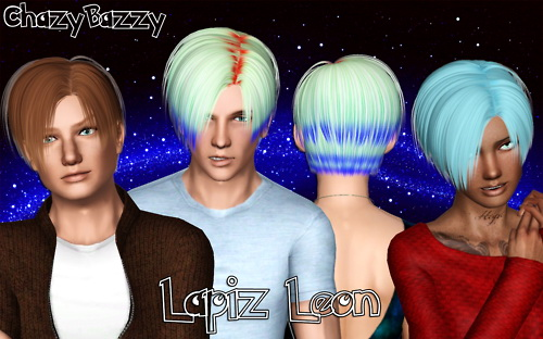 Lapiz Leon hairstyle retextured by Chazy Bazzy for Sims 3