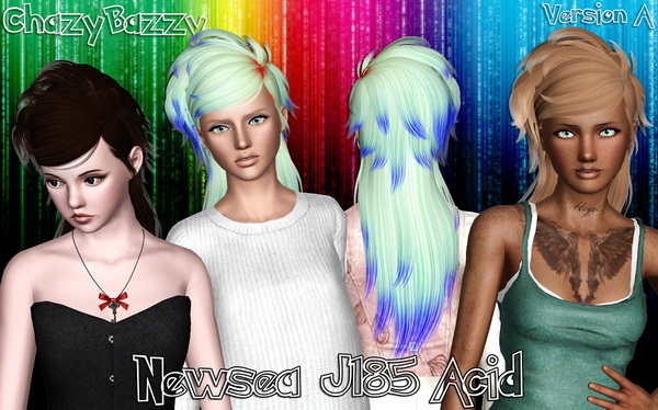 Newsea`s J185 Acid hairstyle retextured by Chazy Bazzy for Sims 3