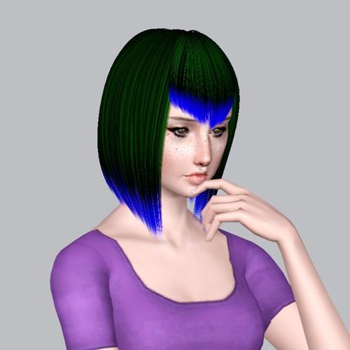 Zauma` Minzy hairstyle retextured by Plumb Bombs for Sims 3
