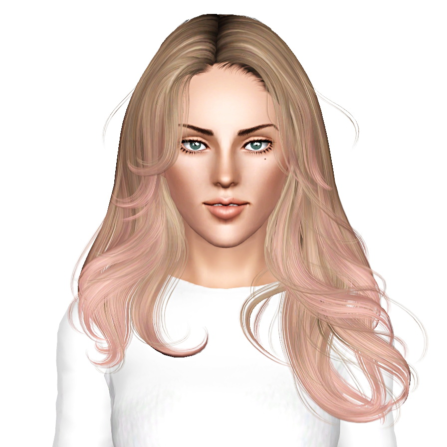 Newsea Equinoxe Hairstyle Retextured By July Kapo Sims 3 Hairs