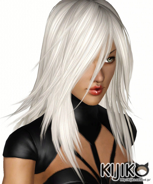 Fluorite hairstyle for her by Kijiko for Sims 3